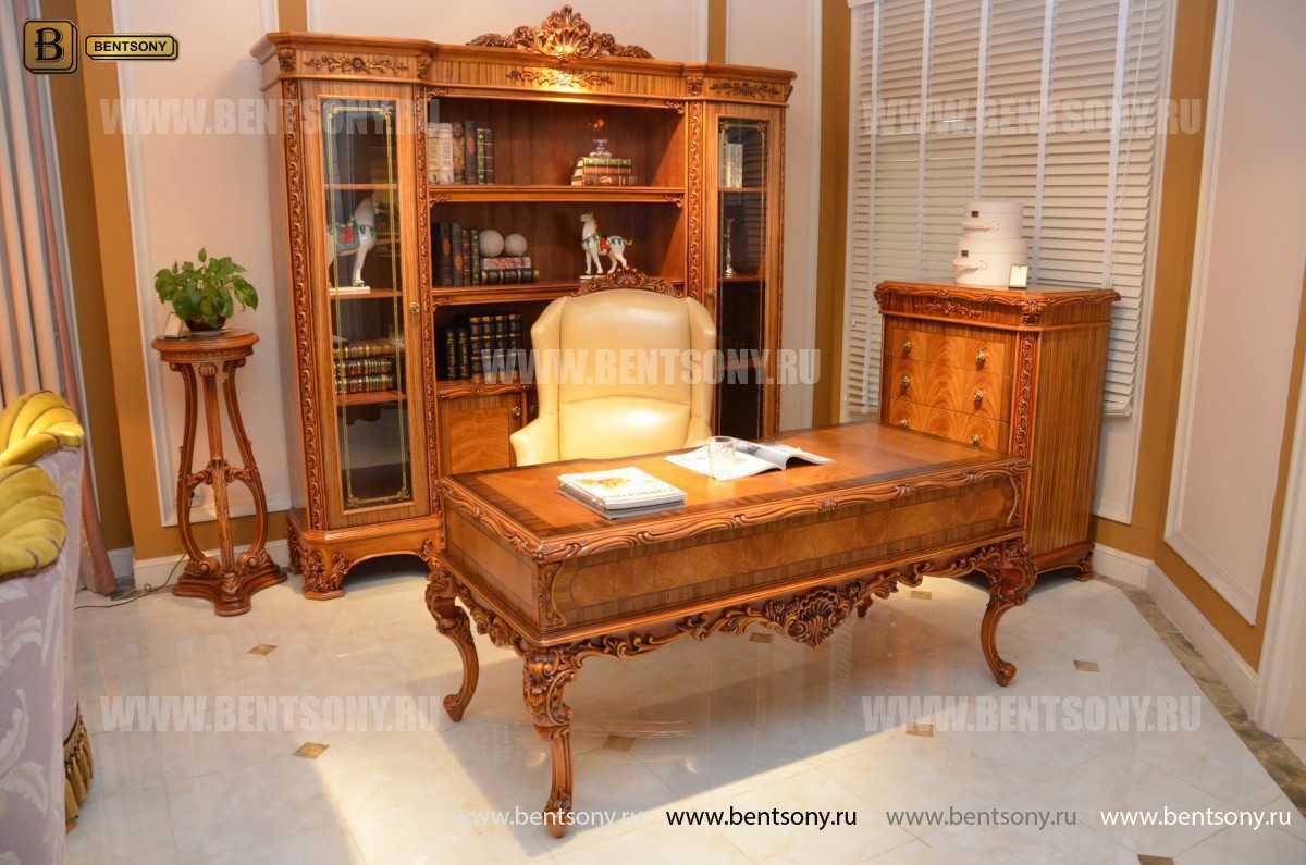 Шкаф Книжный Белмонт (Классика, массив дерева) купить в СПб