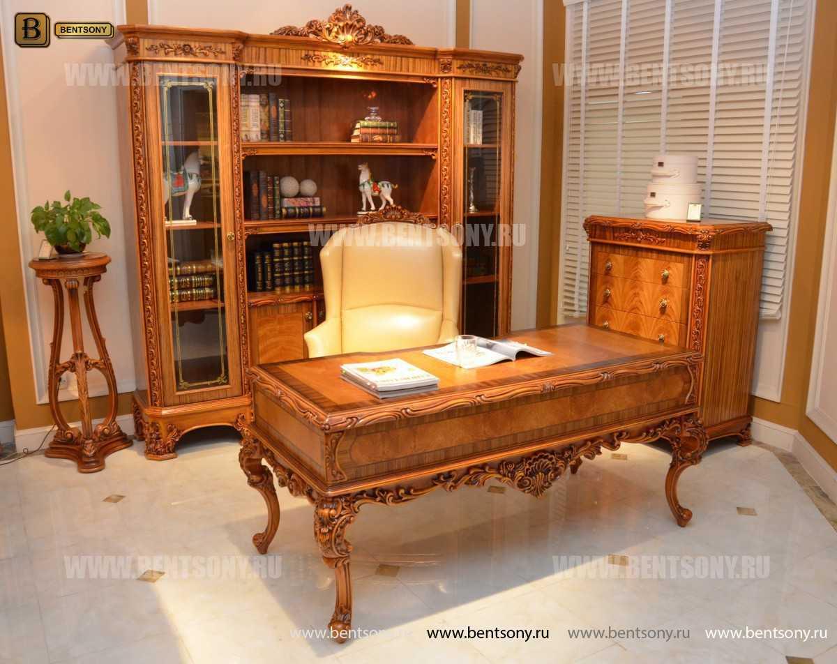 Шкаф Книжный Белмонт (Классика, массив дерева) каталог мебели с ценами