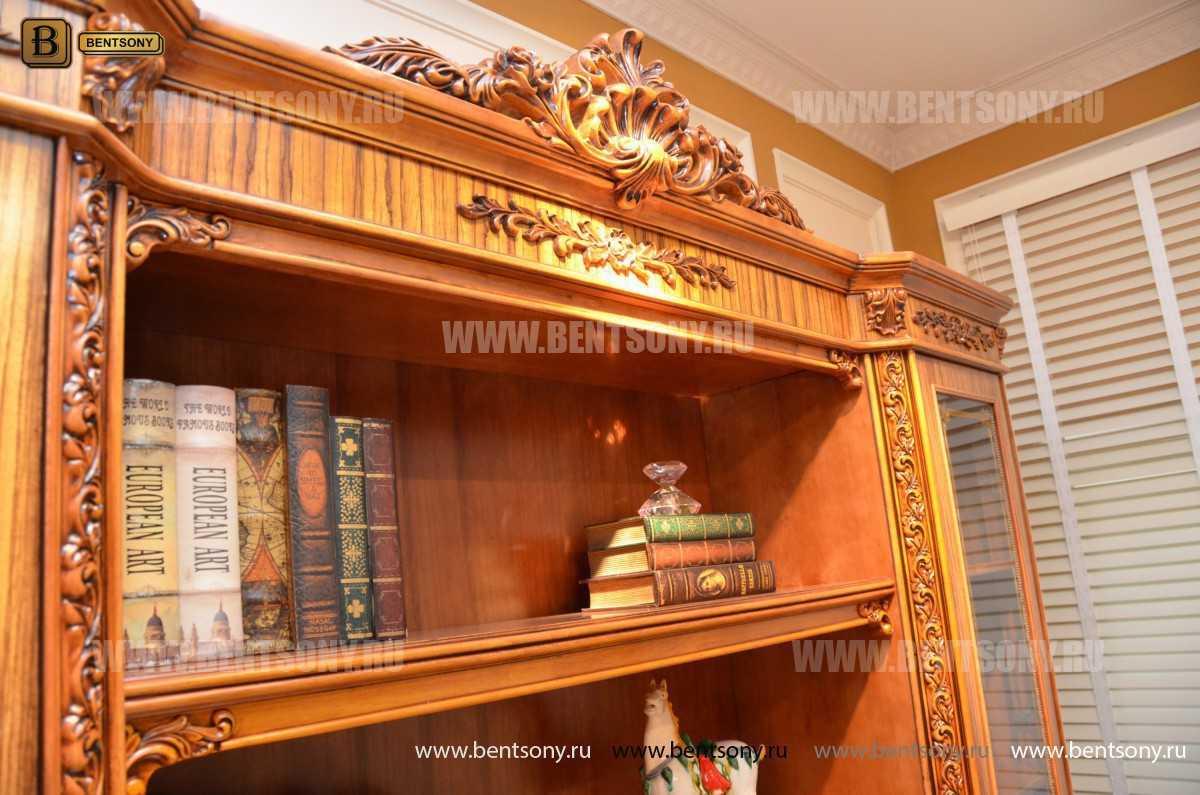 Шкаф Книжный Белмонт (Классика, массив дерева) в СПб