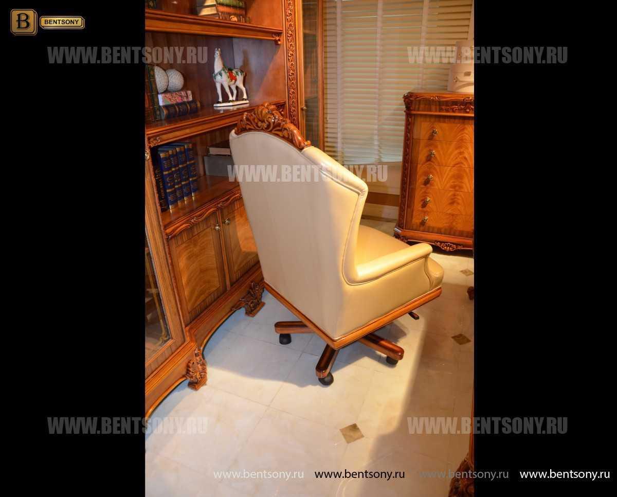 Кресло кабинетное Белмонт (Массив дерева, Кожа комбинированная) интернет магазин