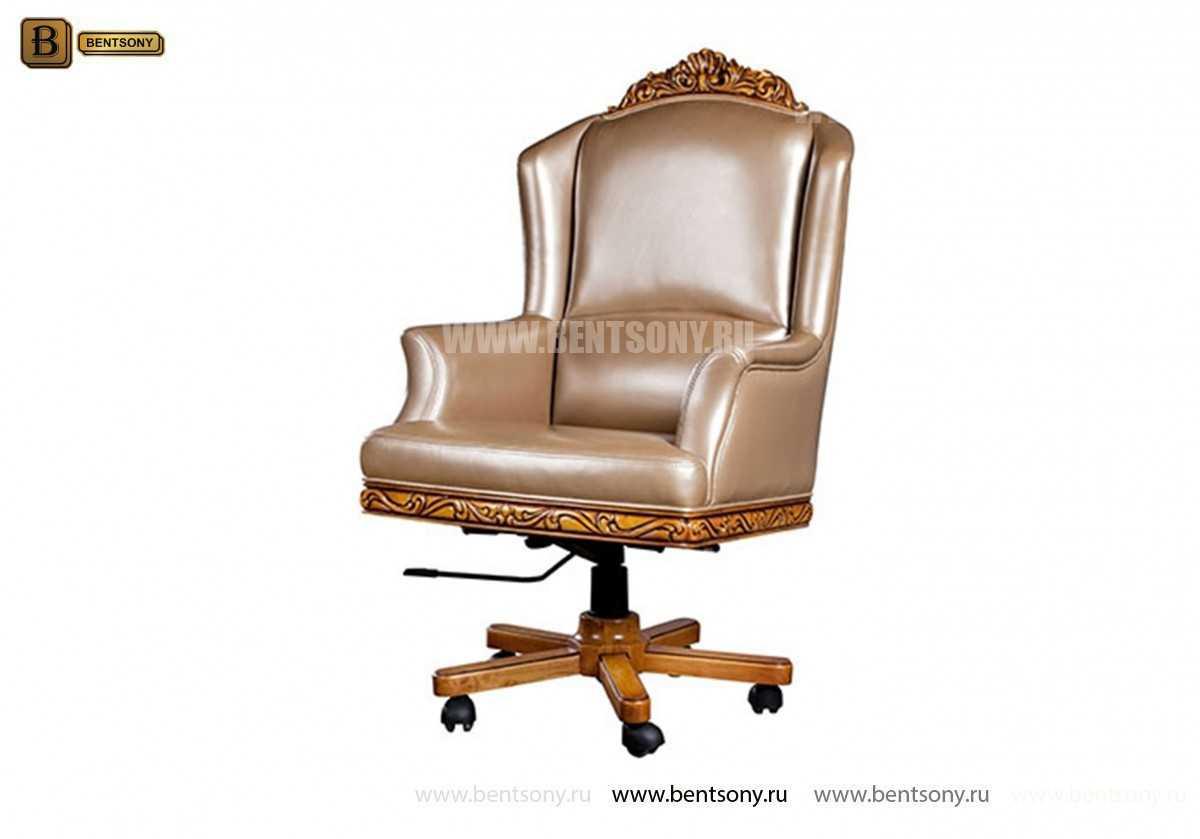 Кресло кабинетное Белмонт (Массив дерева, Кожа комбинированная) в СПб