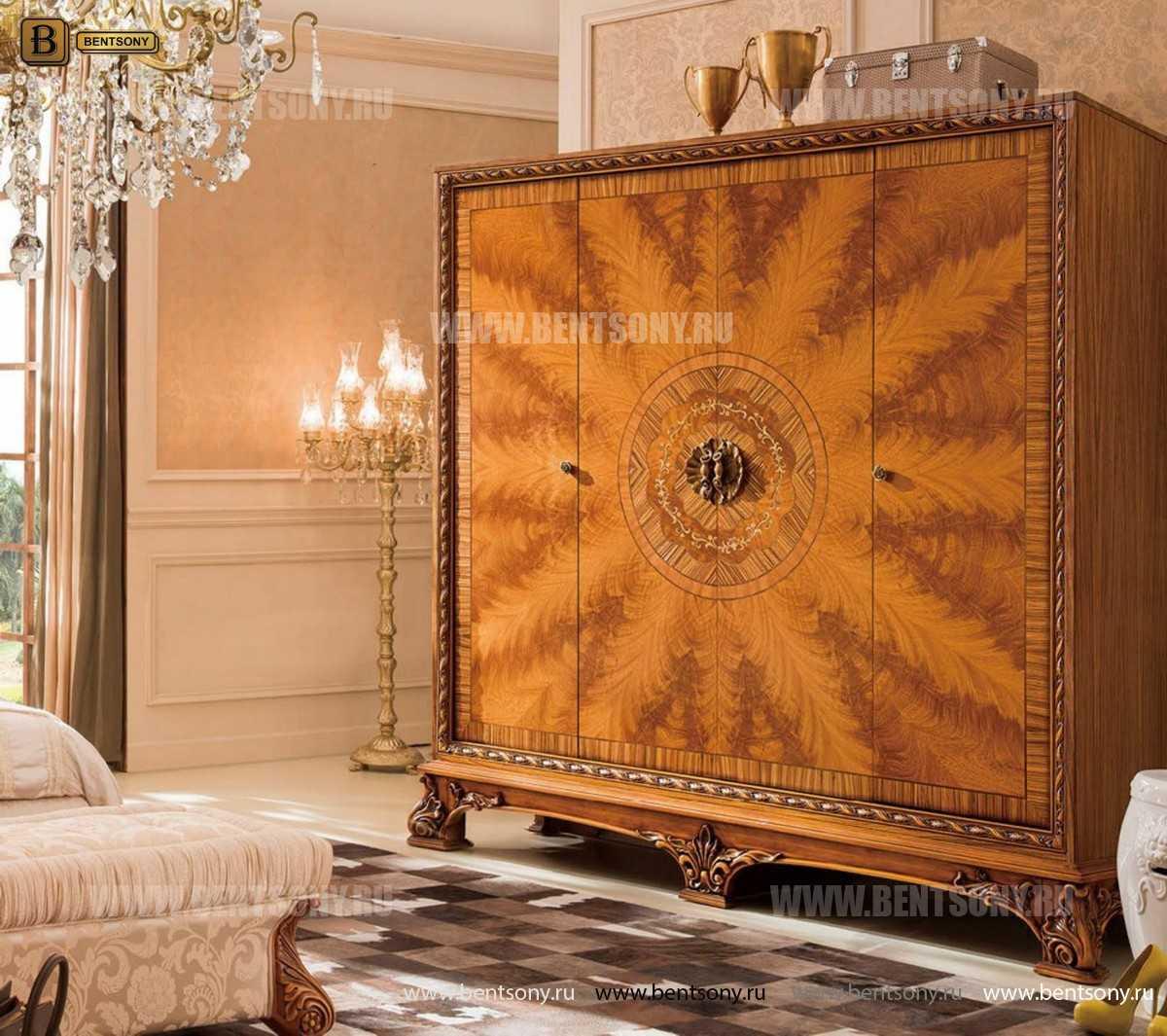Шкаф 4-х дверный  Белмонт В (Массив дерева, Классика) купить в СПб