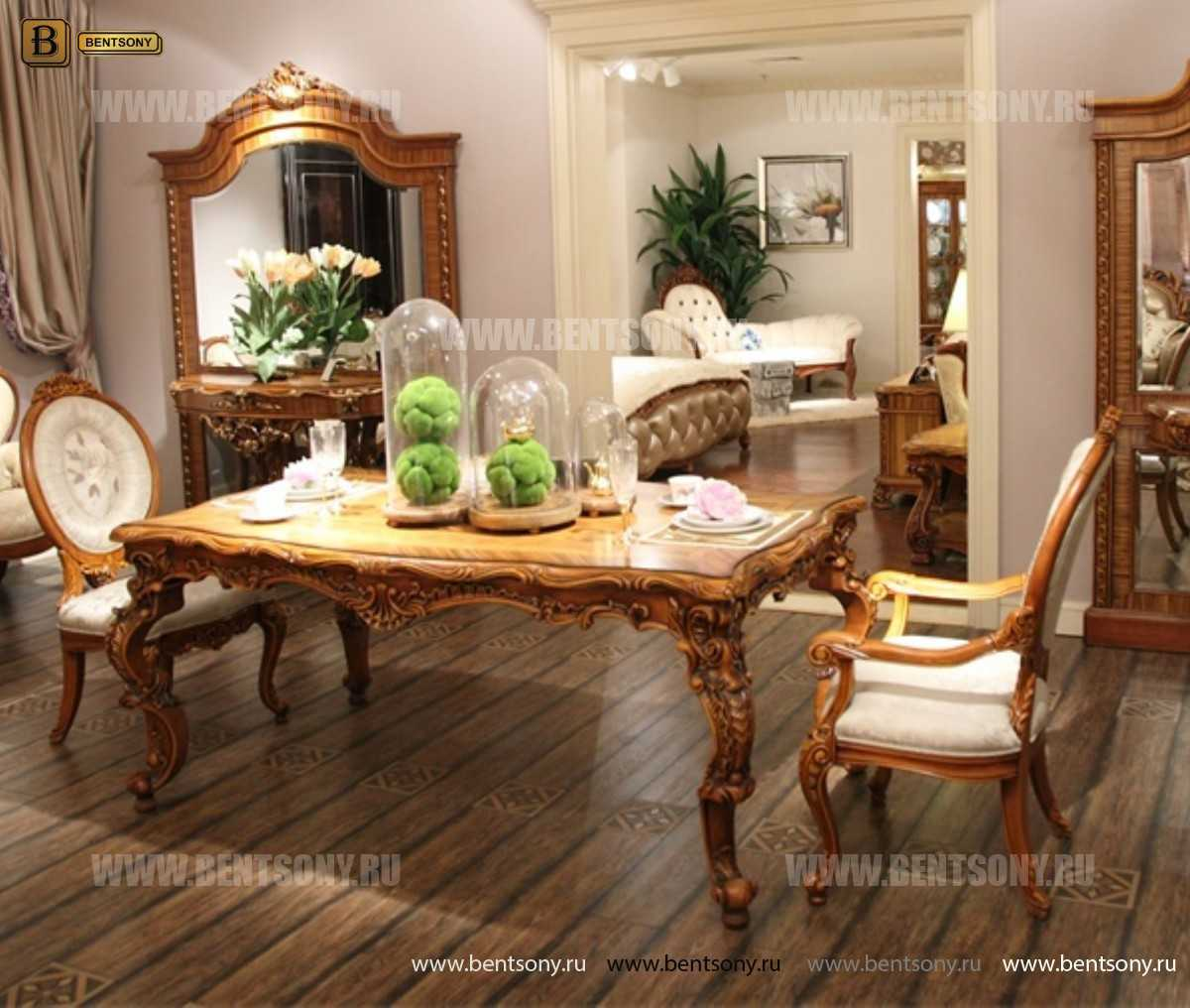 Стол обеденный Белмонт прямоугольный (массив дерева) изображение