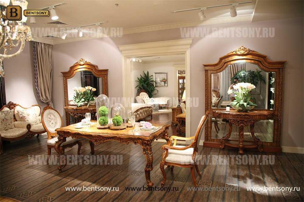 Стол обеденный Белмонт прямоугольный (массив дерева) каталог с ценами