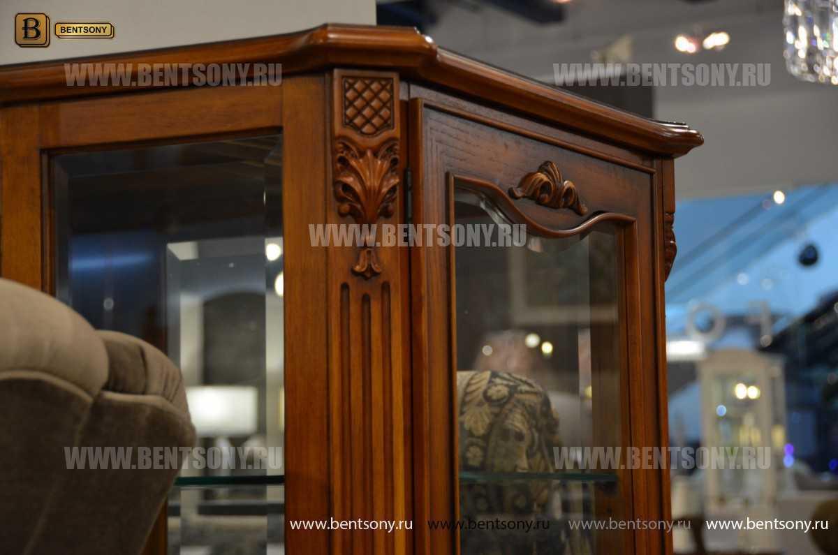 Витрина Феникс для предметов декора (Классика, массив дерева) купить в Москве