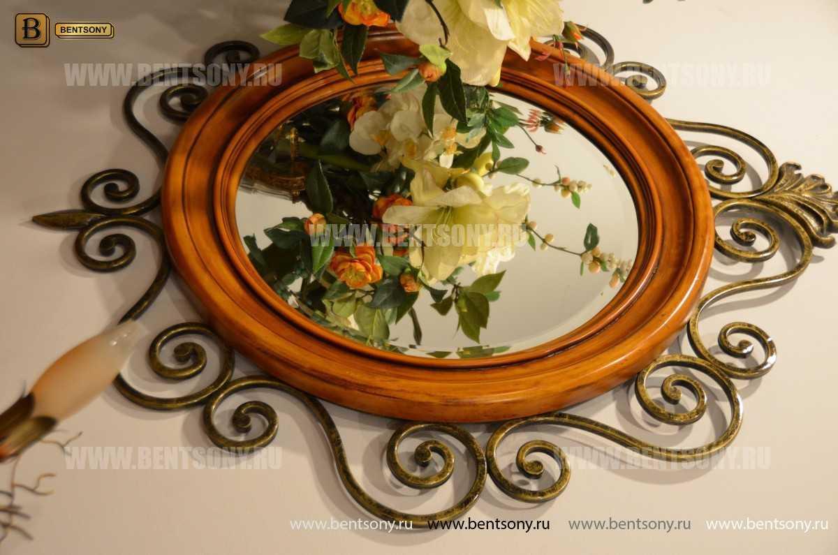 Зеркало на стену Дакота (Классика, дерево, металл) фото