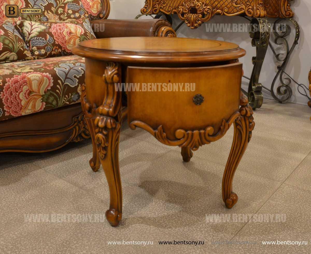 Чайный столик круглый Дакота (Классика, массив дерева) магазин