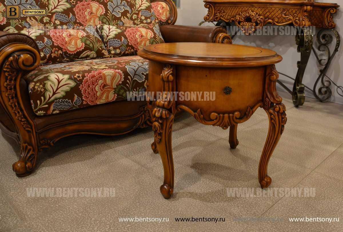 Чайный столик круглый Дакота (Классика, массив дерева) каталог с ценами