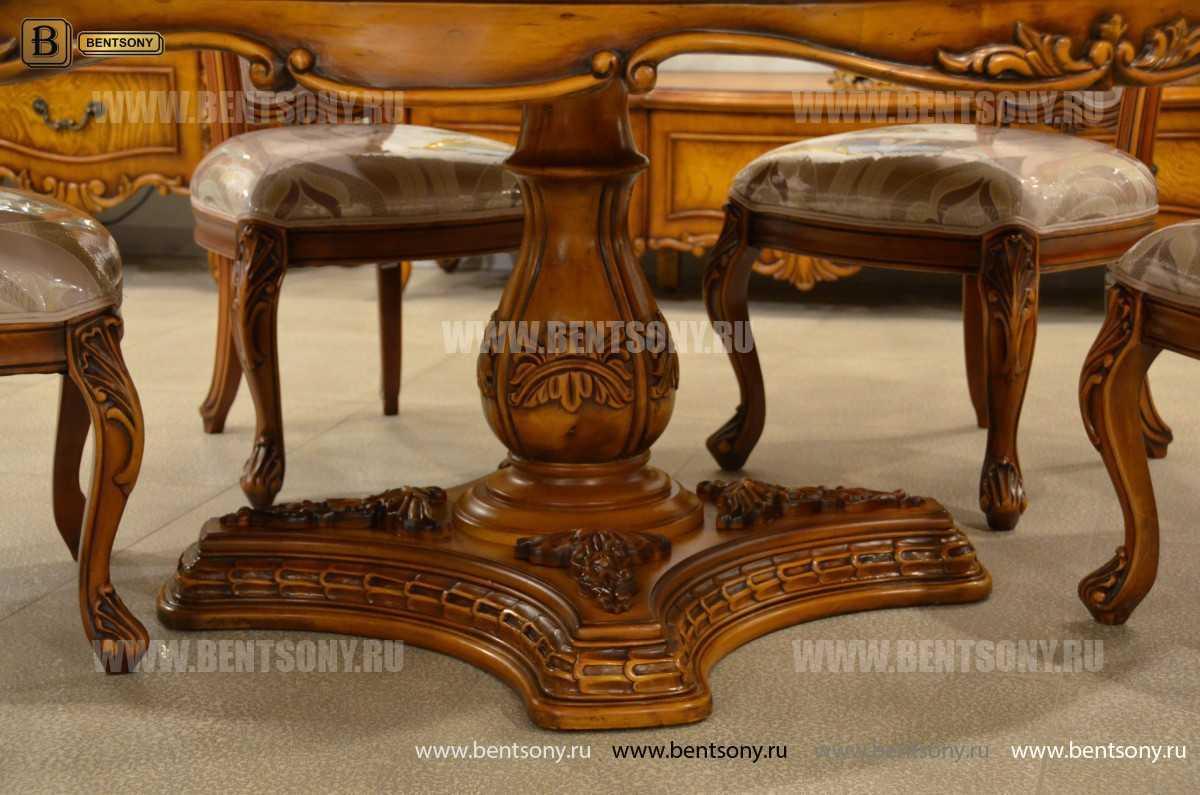 Обеденный стол Дакота А (Круглый, массив дерева) для загородного дома