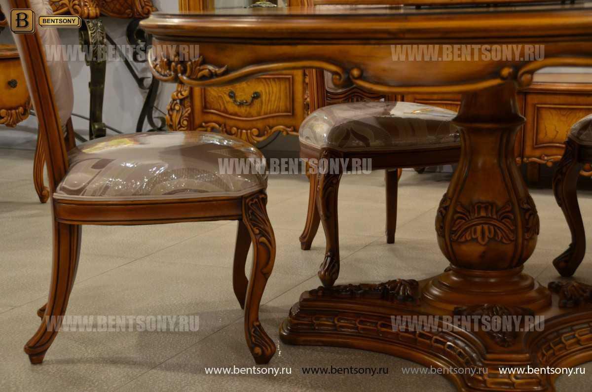 Обеденный стол Дакота А (Круглый, массив дерева) для квартиры