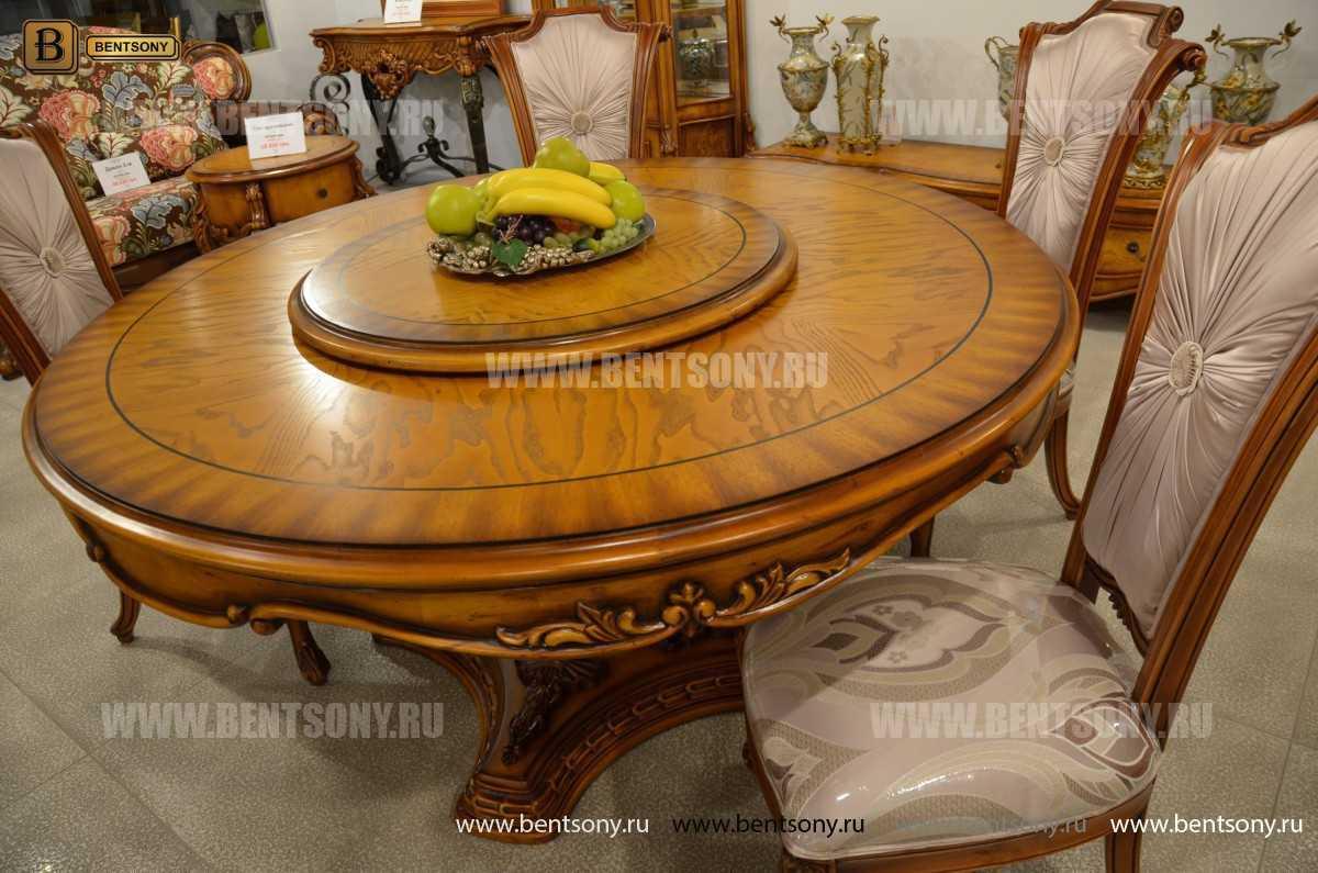 Обеденный стол Дакота А (Круглый, массив дерева) в СПб