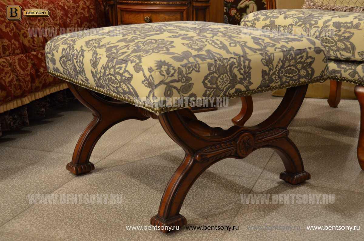 Пуф Монтана А (ткань, деревянные ножки) каталог мебели с ценами