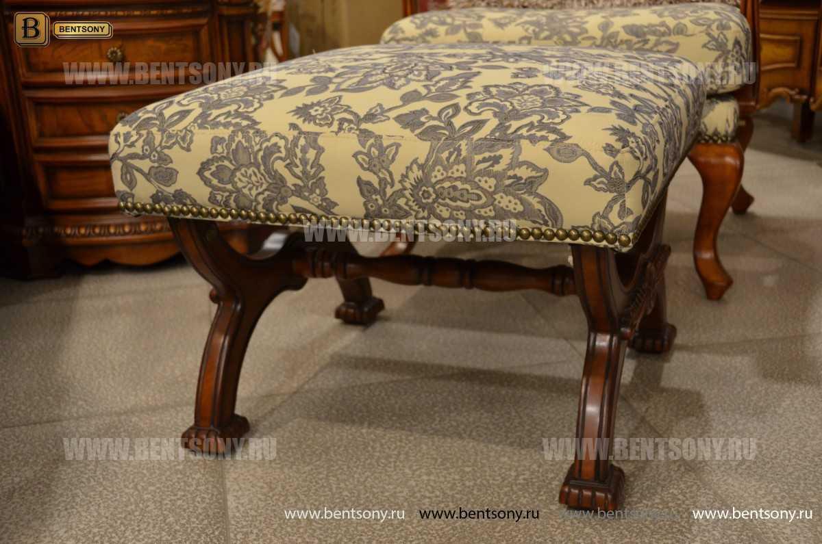Пуф Монтана А (ткань, деревянные ножки) для загородного дома