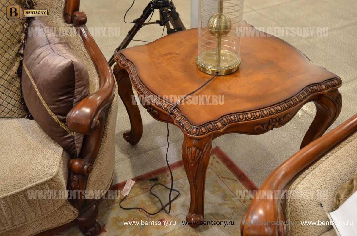 Стол журнальный Монтана А, чайный (Классика, массив дерева) изображение
