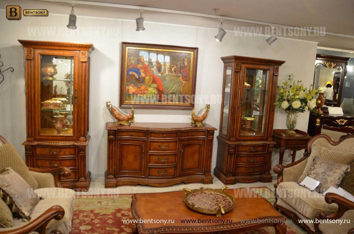 Витрина однодверная Монтана (Классика, массив дерева) купить в Москве