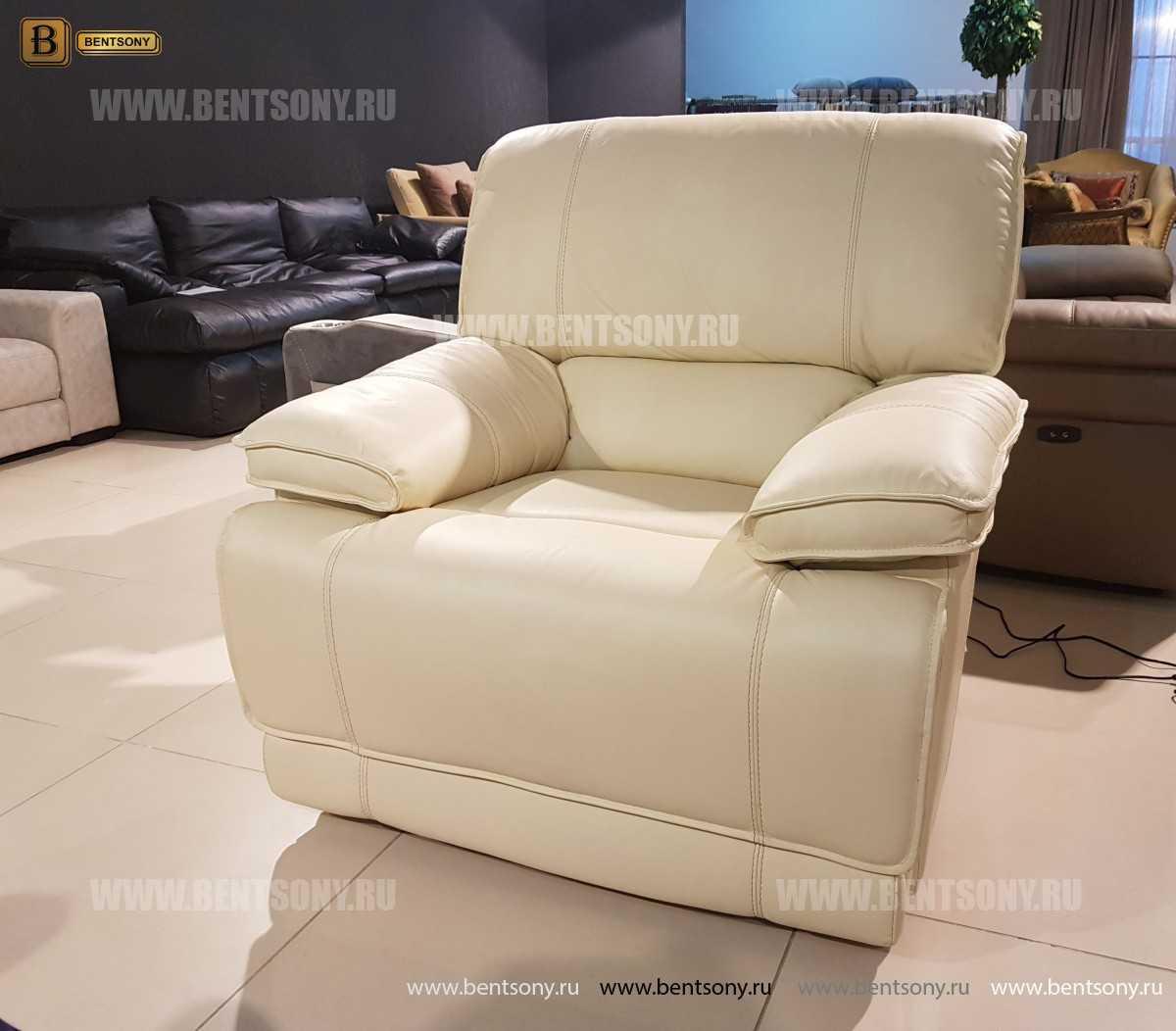 Кресло Капонело для кабинета (Реклайнер, Натуральная кожа) купить