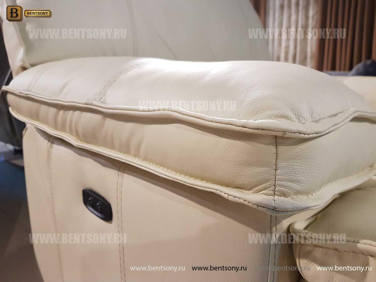 Кресло Капонело для кабинета (Реклайнер, Натуральная кожа) в интерьере