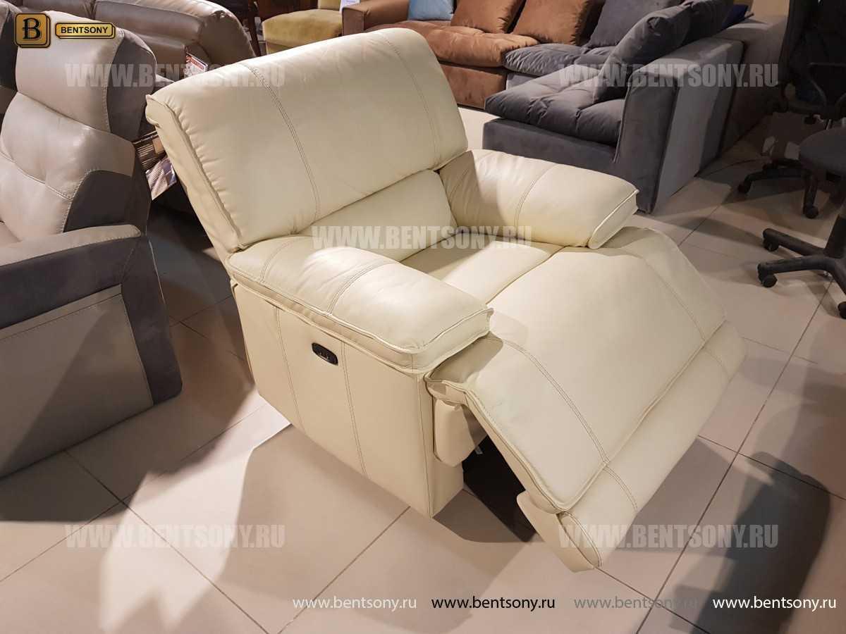 Кресло Капонело для кабинета (Реклайнер, Натуральная кожа) цена