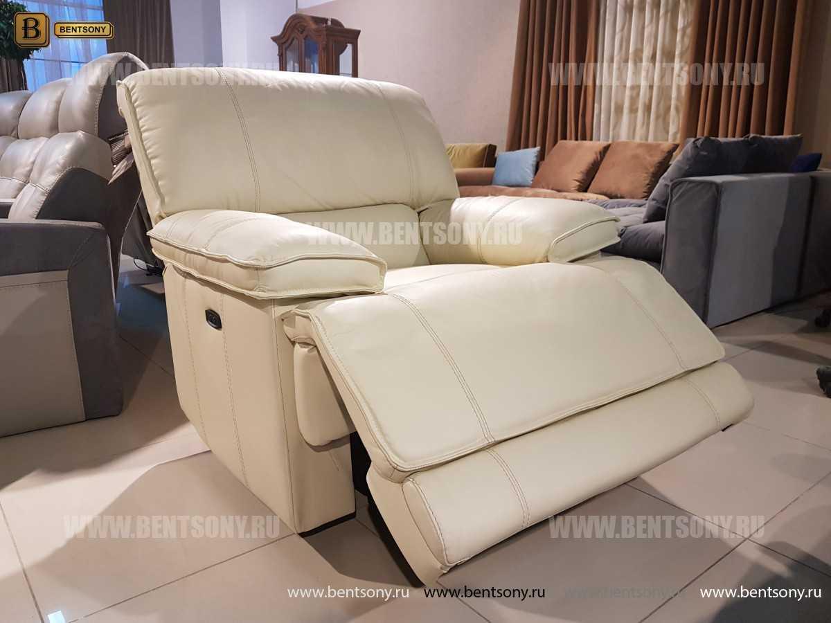 Кресло Капонело для кабинета (Реклайнер, Натуральная кожа) каталог