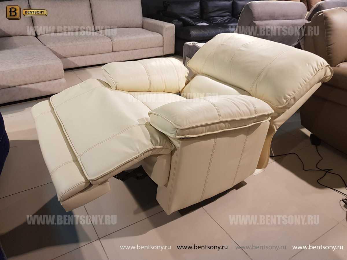 Кресло Капонело для кабинета (Реклайнер, Натуральная кожа) в СПб