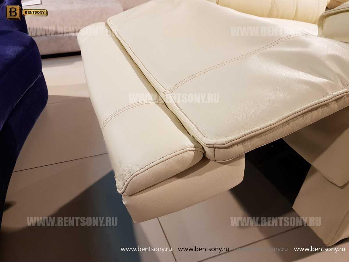 Кресло Капонело для кабинета (Реклайнер, Натуральная кожа) в Москве