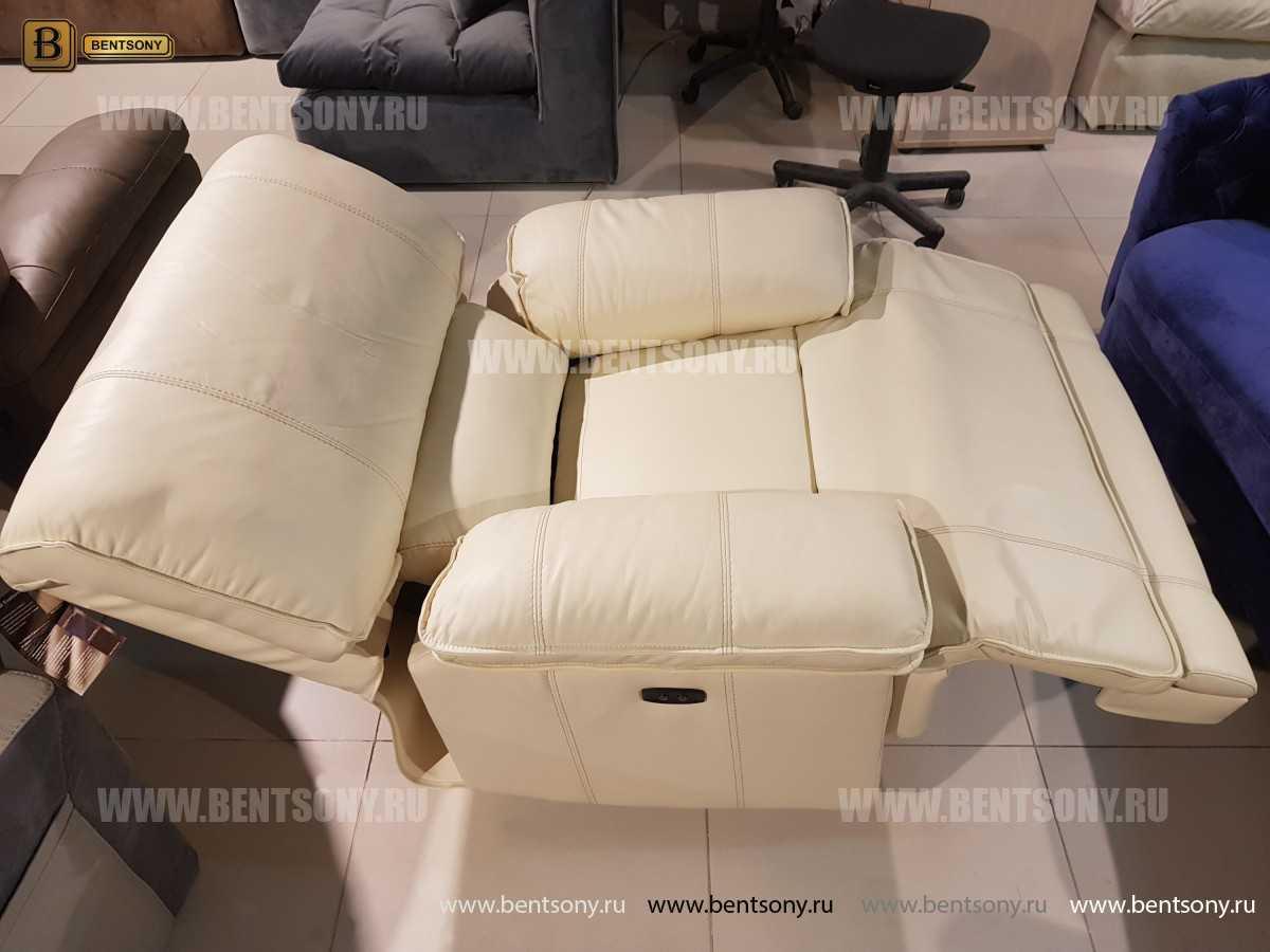 Кресло Капонело для кабинета (Реклайнер, Натуральная кожа) для квартиры