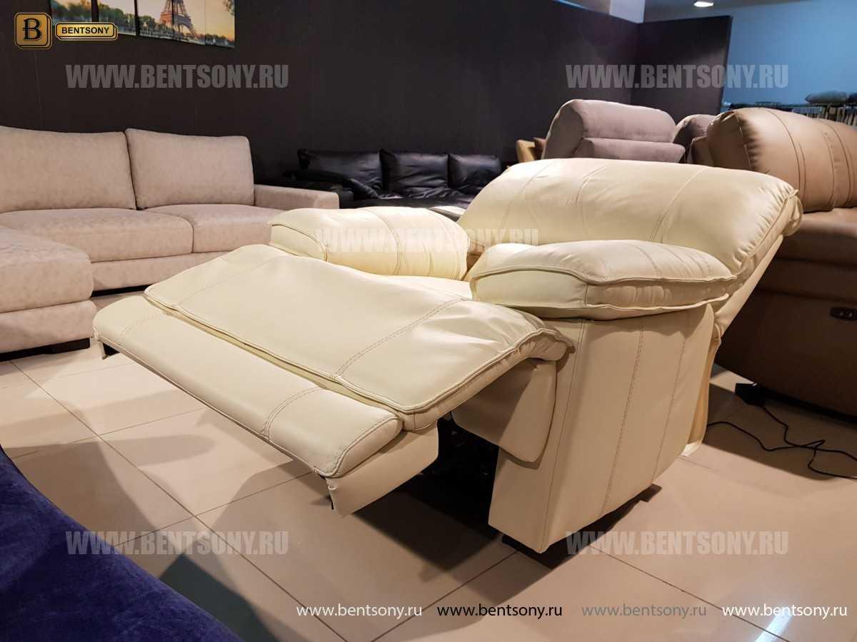 Кресло Капонело для кабинета (Реклайнер, Натуральная кожа) фото