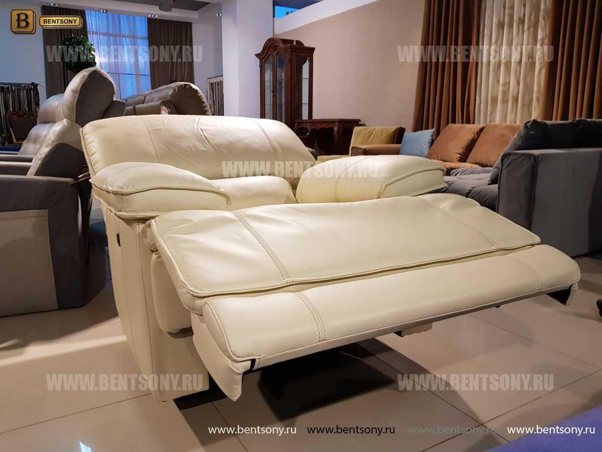 Кресло Капонело для кабинета (Реклайнер, Натуральная кожа) магазин Москва