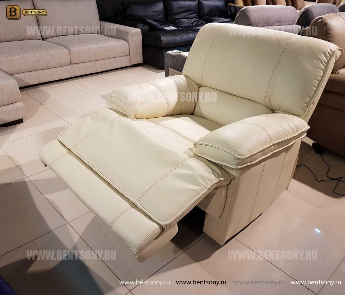 Кресло Капонело для кабинета (Реклайнер, Натуральная кожа) изображение