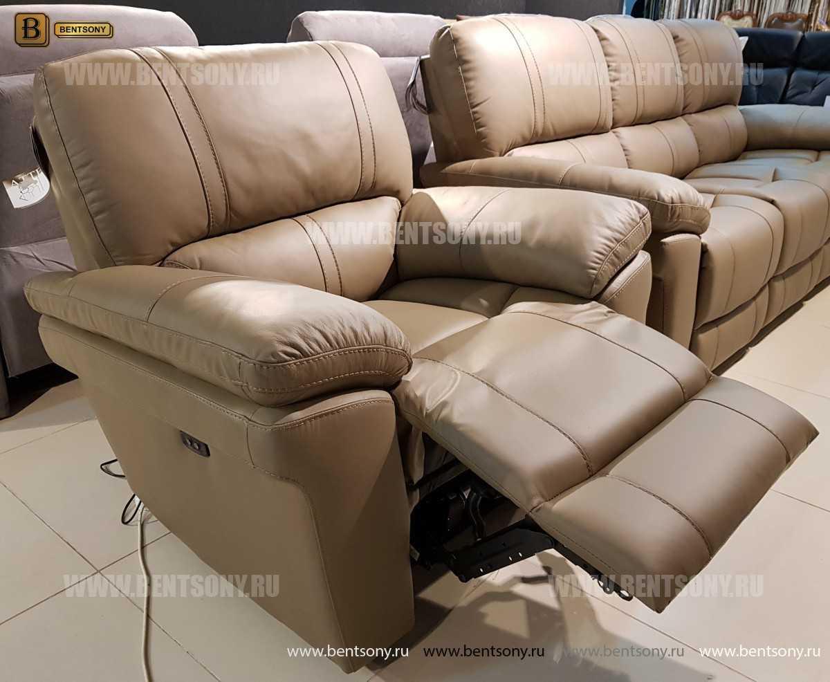 Кресло Марриот (Реклайнер, Натуральная кожа) в интерьере