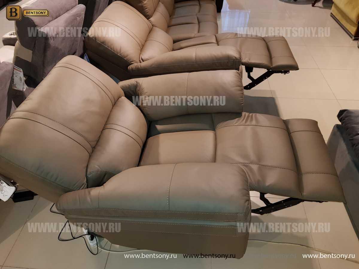 Кресло Марриот (Реклайнер, Натуральная кожа) фото