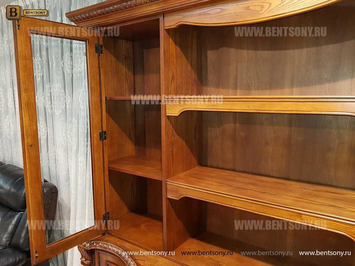Шкаф Книжный Монтана (Прямой, массив дерева) каталог мебели с ценами
