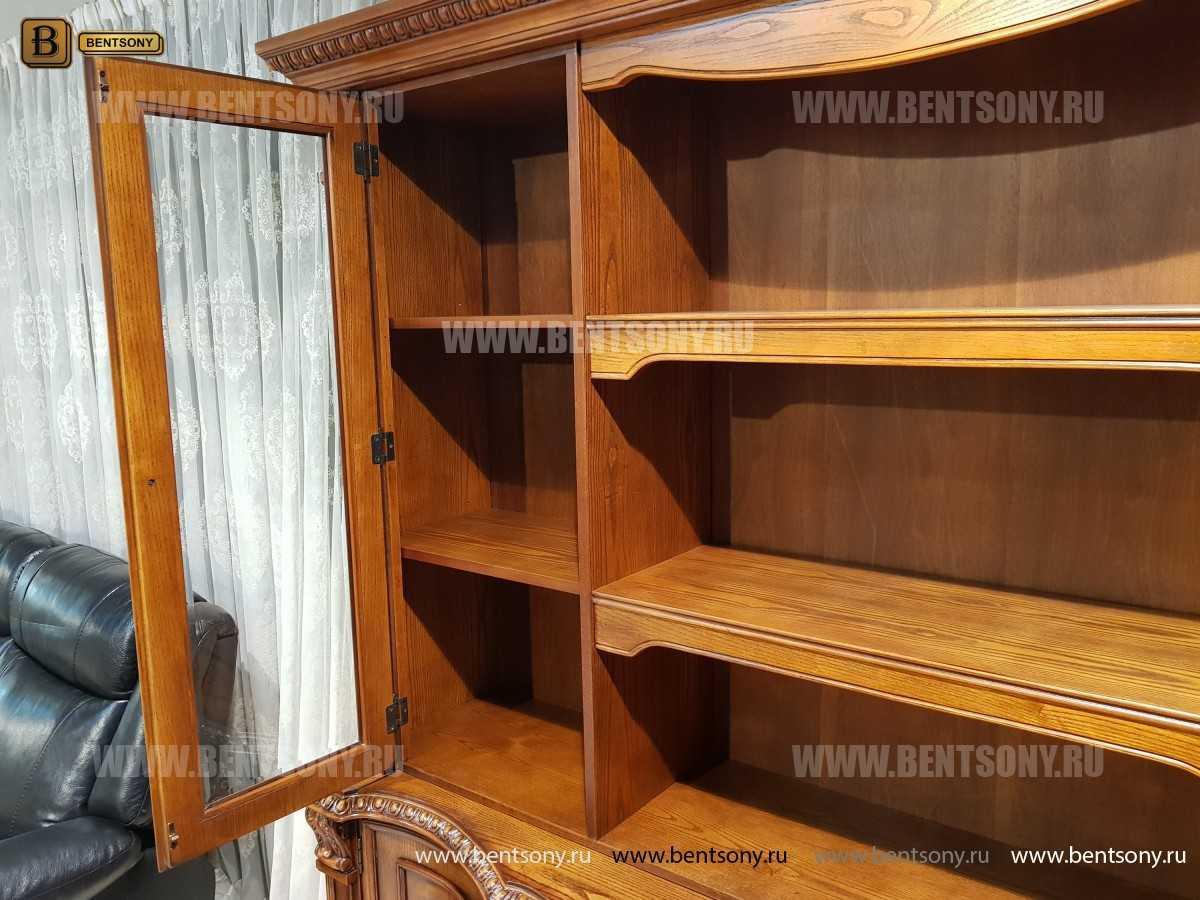 Шкаф Книжный Монтана (Прямой, массив дерева) цена