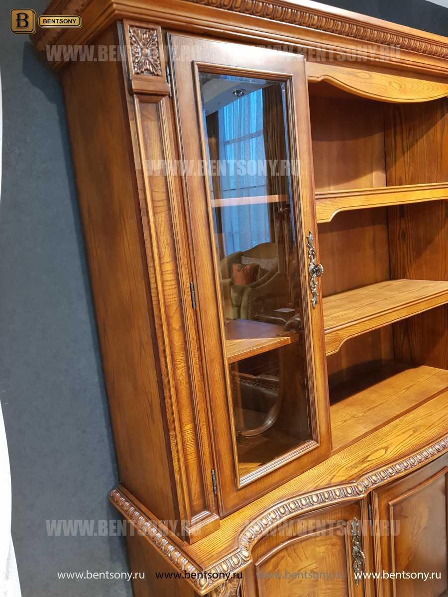 Шкаф Книжный Монтана (Прямой, массив дерева) купить в СПб