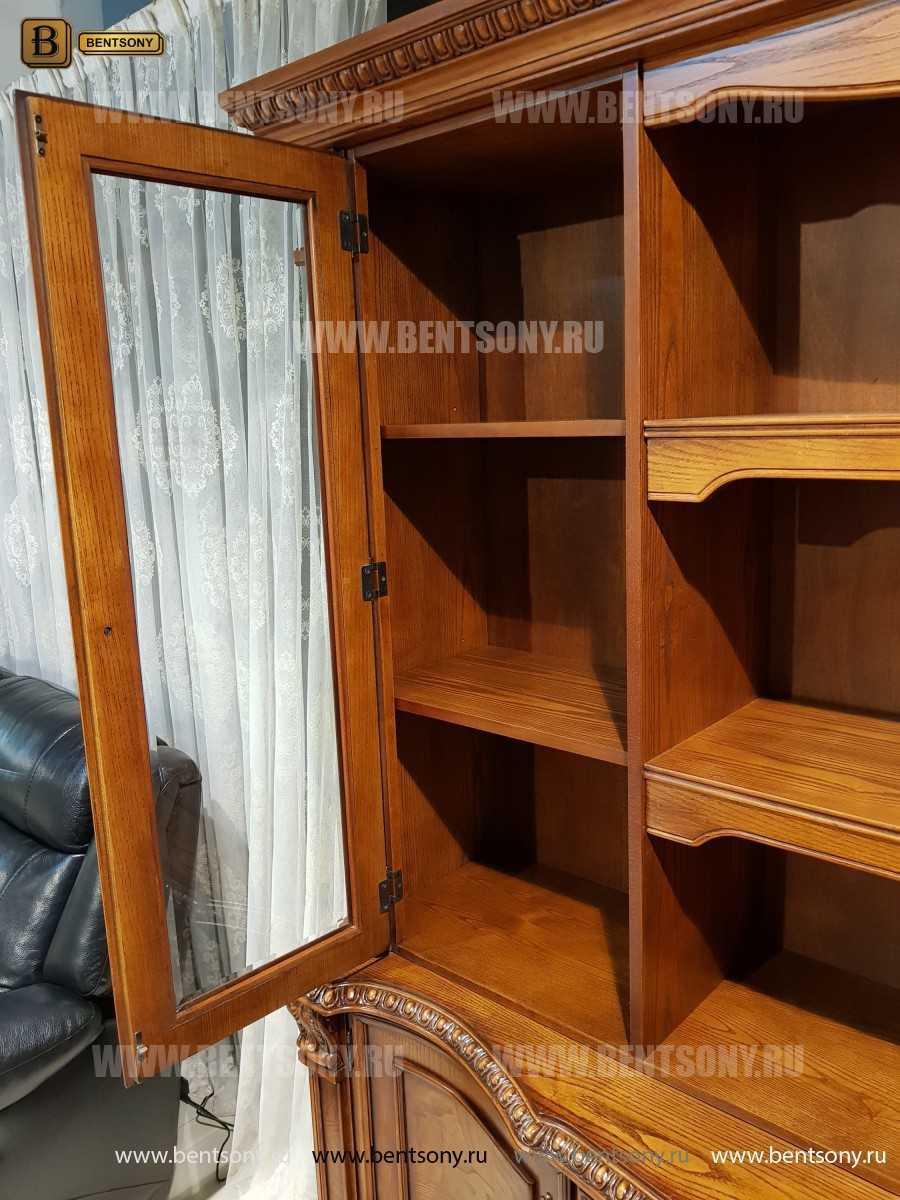 Шкаф Книжный Монтана (Прямой, массив дерева) фото