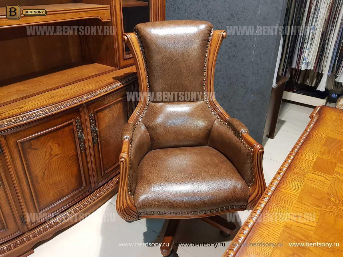 Кресло Кабинетное Монтана (Натуральная кожа)  в интерьере