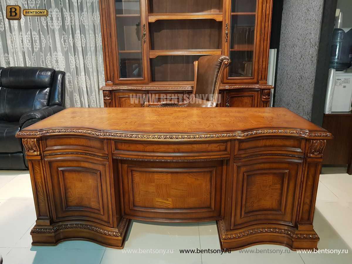 Письменный стол Монтана большой для кабинета (классика, массив дерева) купить