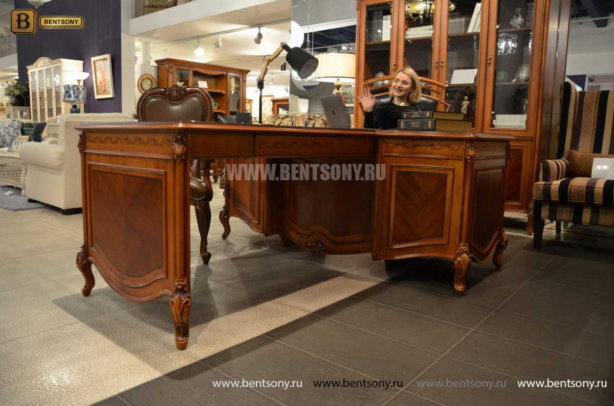 Письменный стол Флетчер А (Классика, массив дерева) каталог мебели с ценами