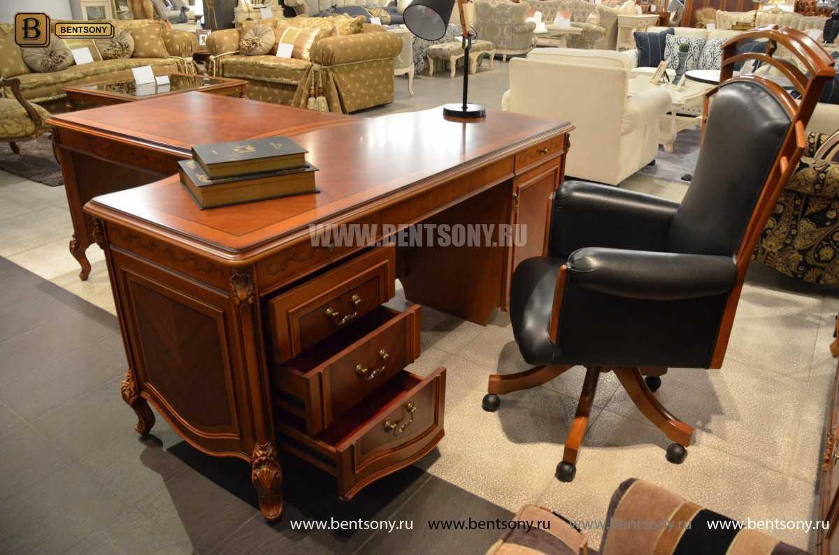 Письменный стол Флетчер А (Классика, массив дерева) в интерьере