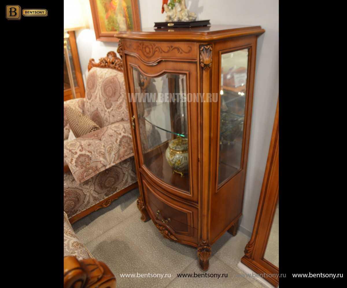 Витрина Флетчер для предметов декора (Классика, массив дерева) каталог мебели