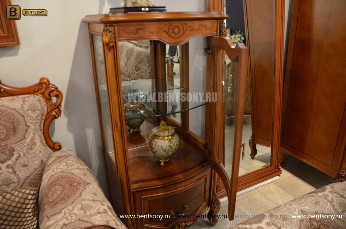 Витрина Флетчер для предметов декора (Классика, массив дерева) купить