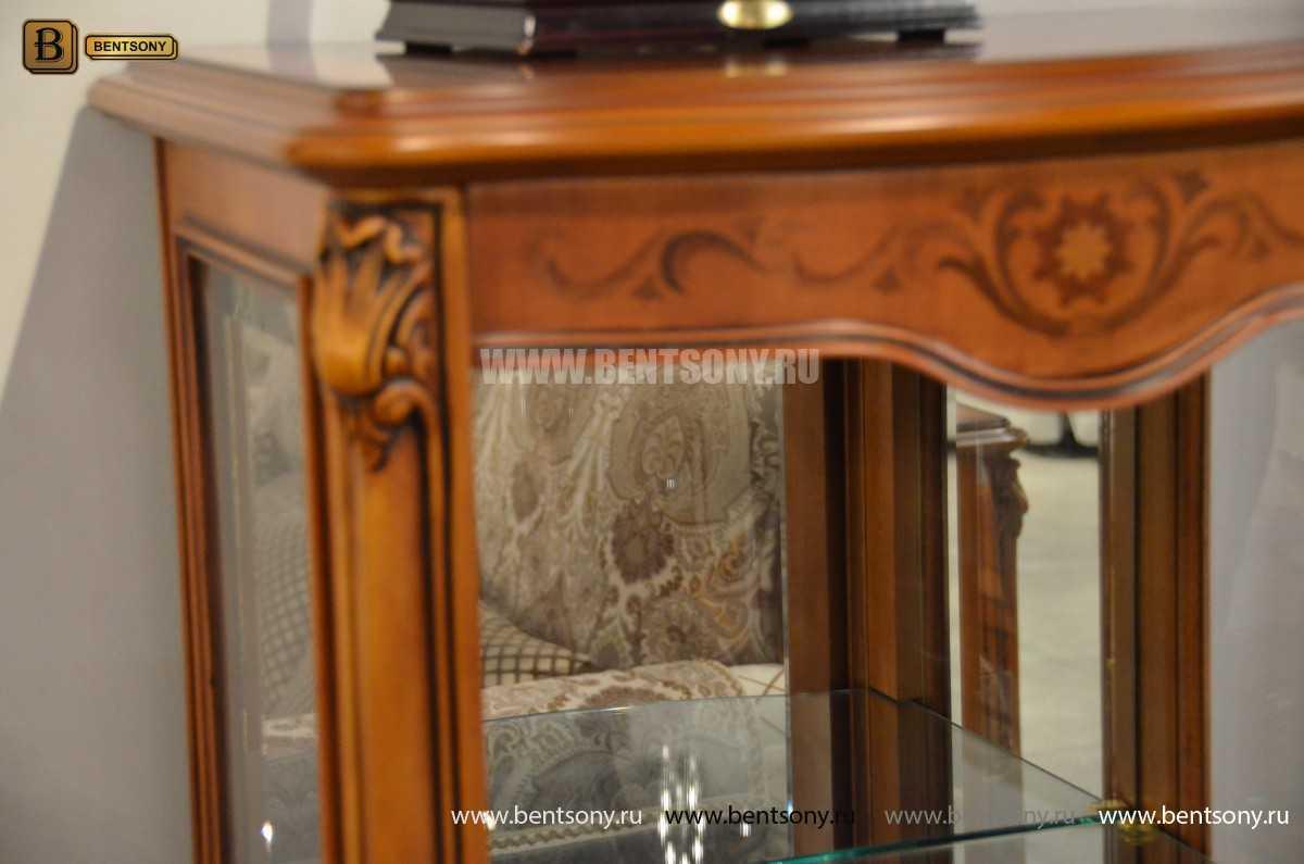 Витрина Флетчер для предметов декора (Классика, массив дерева) для квартиры