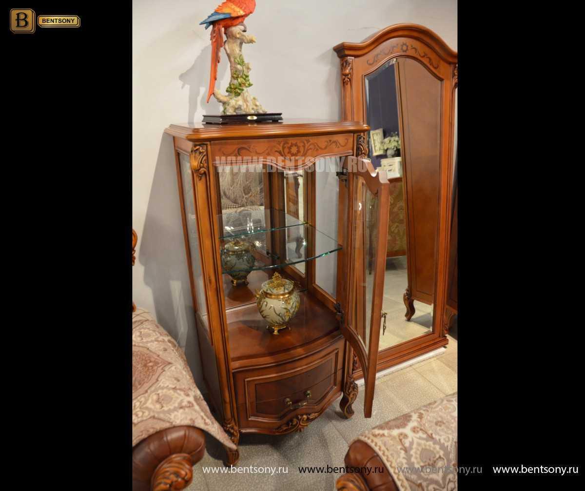 Витрина Флетчер для предметов декора (Классика, массив дерева) фото