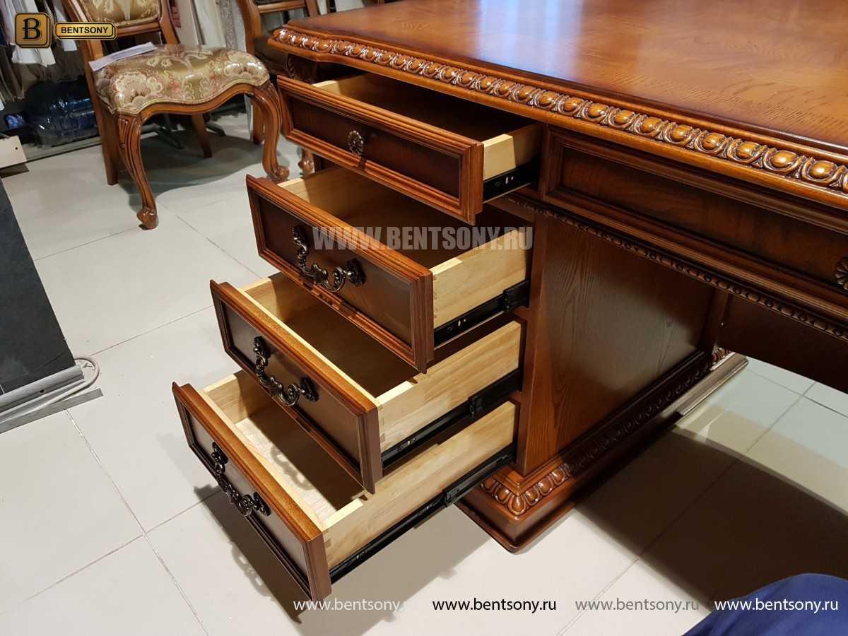 Письменный стол Монтана большой (классика, массив дерева) распродажа