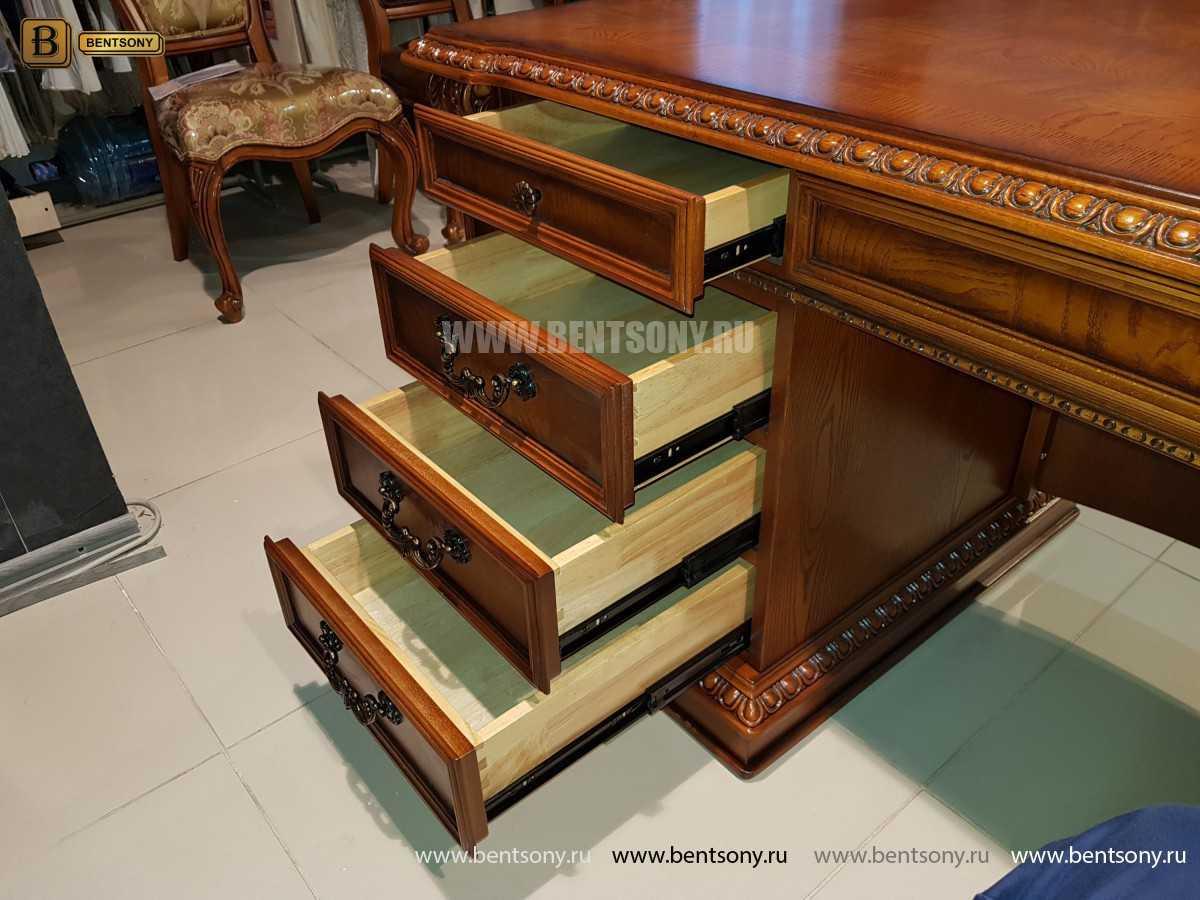 Письменный стол Монтана большой (классика, массив дерева) купить