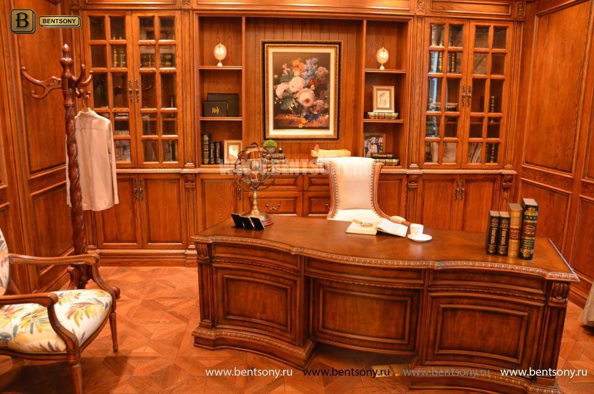 Письменный стол Монтана большой (классика, массив дерева) в интерьере