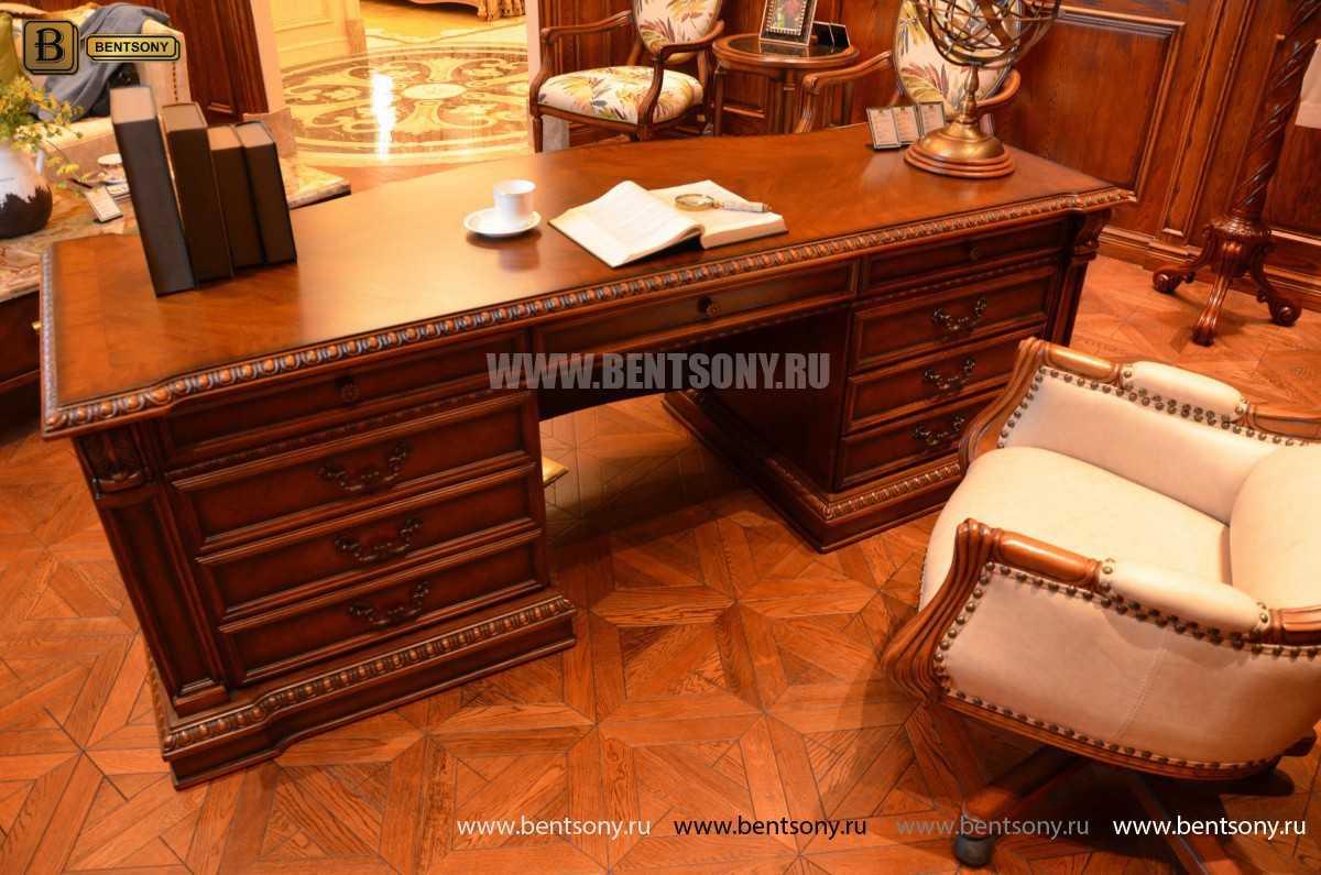 Письменный стол Монтана большой (классика, массив дерева) в Москве