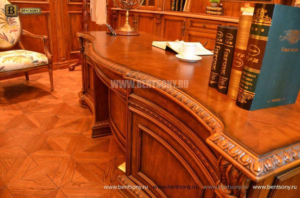 Письменный стол Монтана большой (классика, массив дерева) купить в Москве