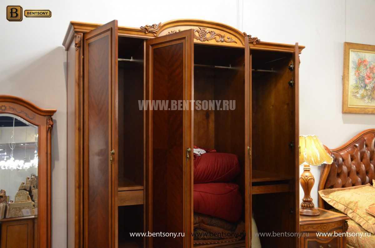 Шкаф 4-х дверный Флетчер (Массив дерева, Классика) каталог с ценами