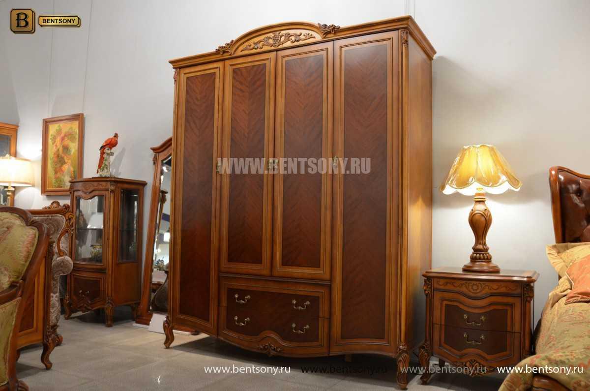 Шкаф 4-х дверный Флетчер (Массив дерева, Классика) в Москве